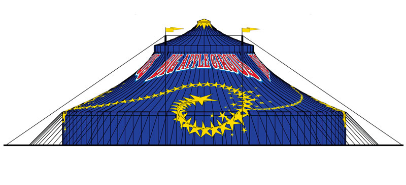 BIG APPLE CIRCUS TENT GRAPHIC – 2005