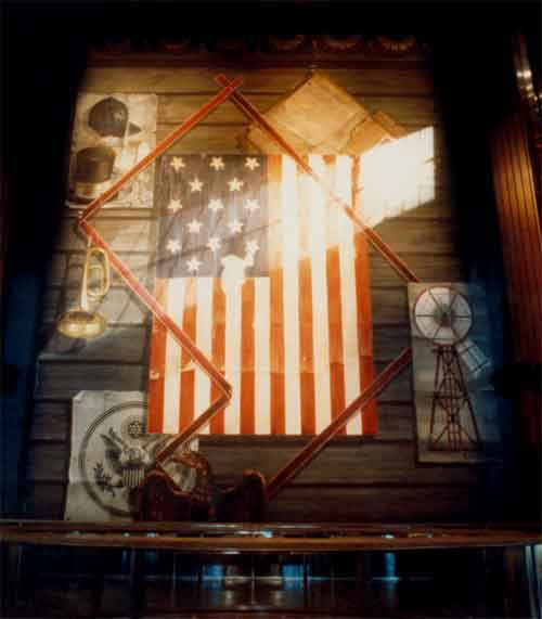 Peter Wexler - Star Spangled Baner Exhibit - National Museum of American History, Smithsonian Institution , Washington DC 1982